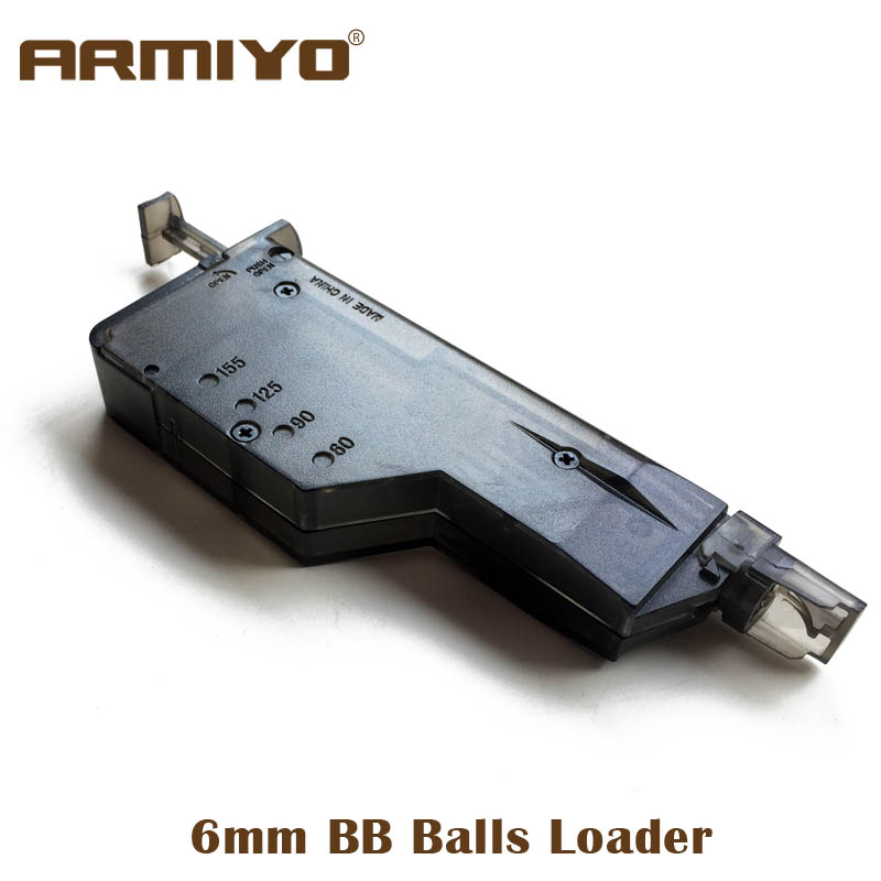 Armiyo 6mm BB Balls Speed Loader 155 Rounds Airsoft Paintball Tactical Shooting Hunting Accessories