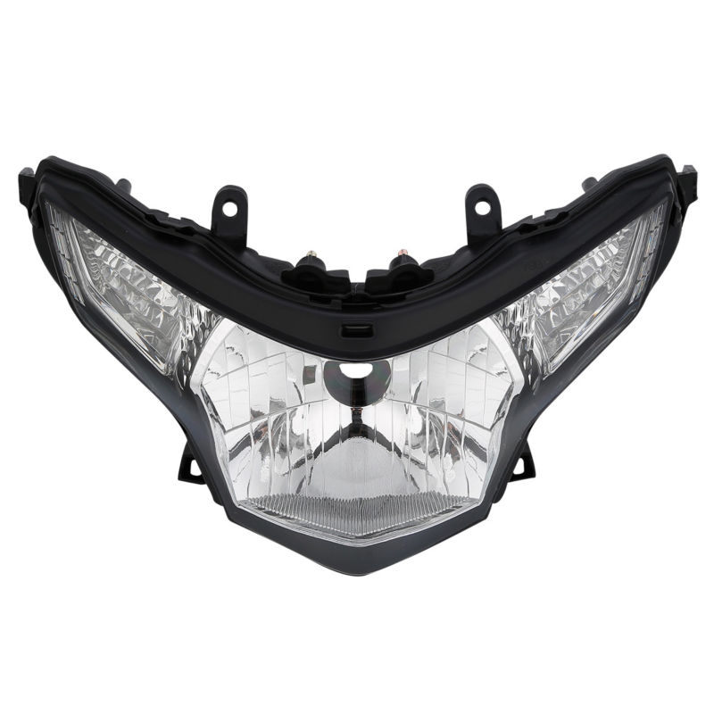 Clear Front Headlight Headlamp Head Lights Assembly For Honda CBR250R 2011-2012 changan for mazda 2 m2 headlights headlight assembly front lights light headlamp