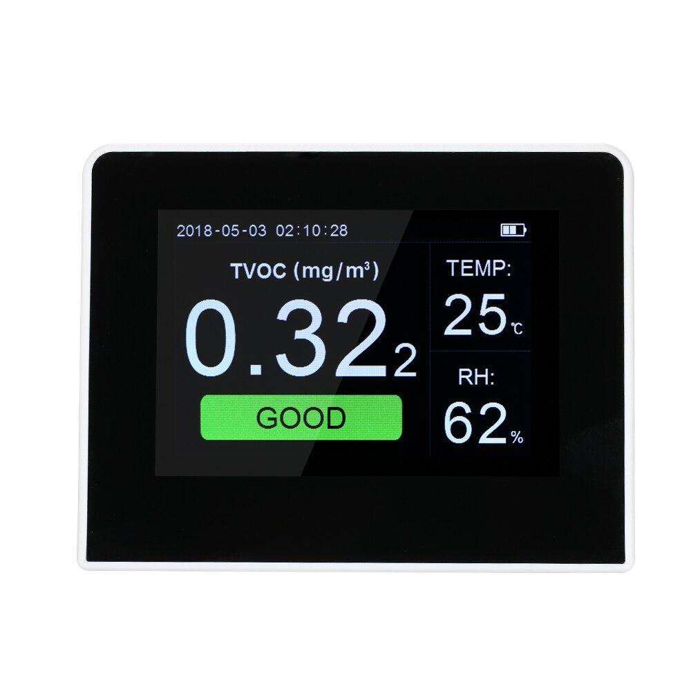 pm2 5 detector co2 meter Air Quality Detector CO2 Monitor Digital HCHO TVOC Tester Gas Analyzer
