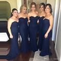2017 Cheap Elegant Bridesmaid Dress 2017 Sexy Mermaid Lace Navy Blue Bridesmaids Gown Wedding Guest Dress BD224