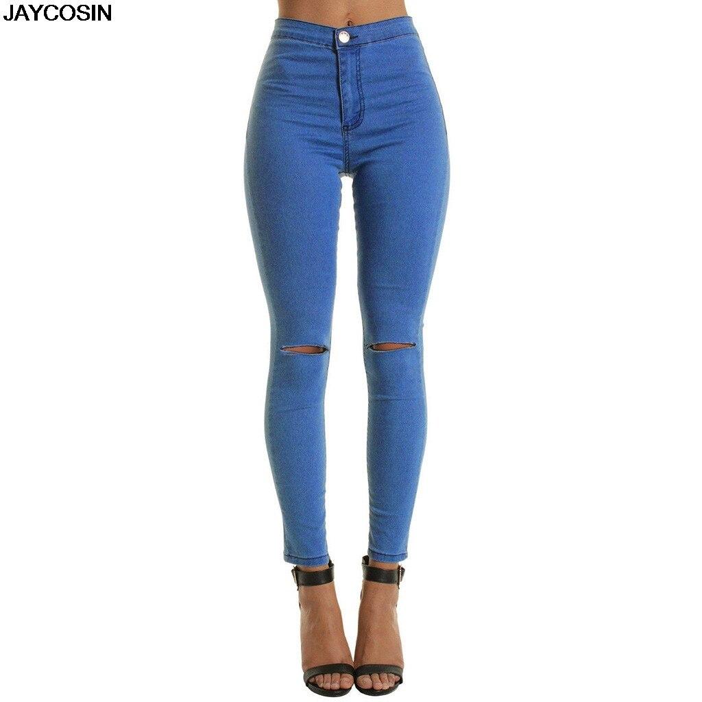 Lady Crayon Stretch Pantalon Taille Haute Pantalon Slim FASHION Jean Jeggings Skinny
