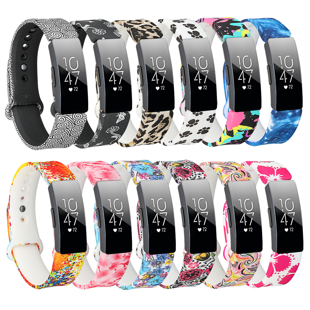 Silicone Band For Fitbit Inspire HR Flora Colorful Smart Wrist Strap Band For Fitbit Inspire / Inspire HR Accessories Small Larg