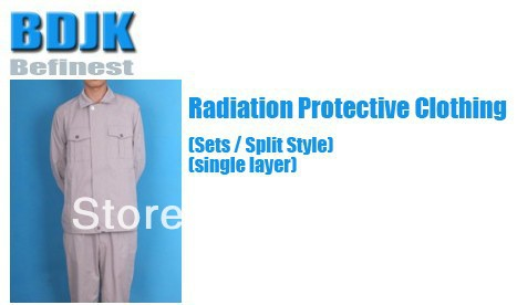 Radiation Protective Clothing Sets with Metal Fibrosis Conductive Fabric Singel Layer Protection Suit