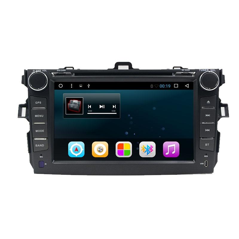 imágenes para 2 din Quad Core android 6.0 dvd del coche para toyota corolla 2007 2008 2009 2010 2011 multimedia car radio gps