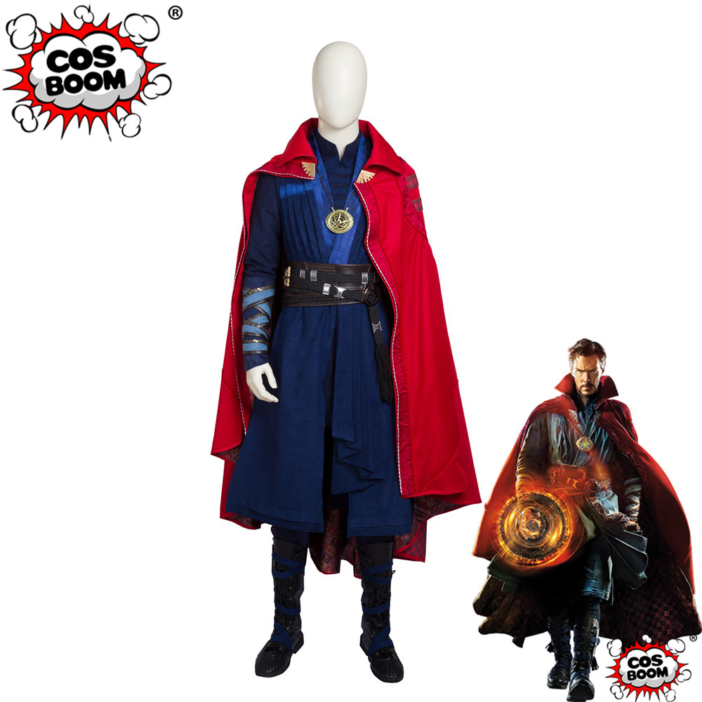 COSBOOM Doctor Strange Deluxe Cosplay Costume Adult Men's Superhero Halloween Doctor Strange Infinity Stone Cosplay Costume