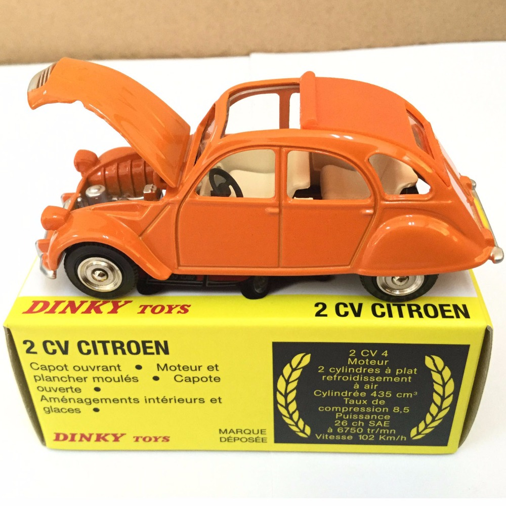 dinky toys 011500 2cv citroen orange atlas 1 43 alloy diecast car model toys model in diecasts. Black Bedroom Furniture Sets. Home Design Ideas