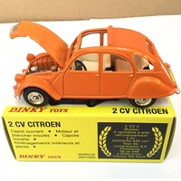 DINKY TOYS 011500 2CV CITROEN ORANGE ATLAS 1/43 Alloy Diecast Car model & Toys Model