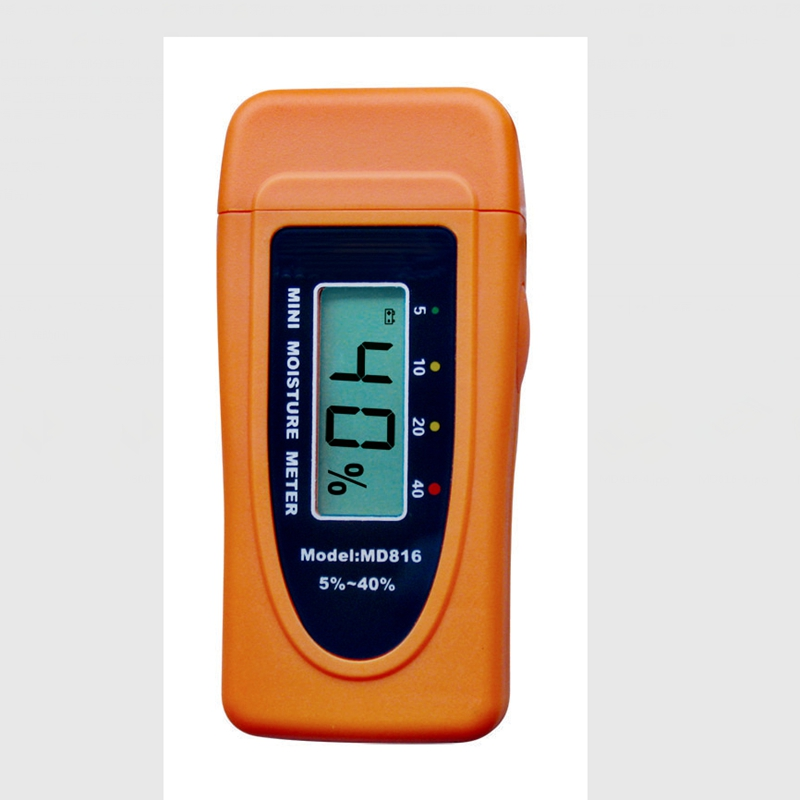 Mini LCD Display 2Pins Digital Moisture Meter Tester Wood Bamboo Cotton Timber Damp Detector 5%~40% MD816 Big Discount