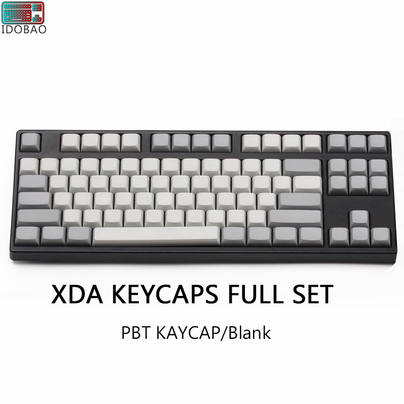 Light White Grey PBT Blank XDA Keycaps ANSI ISO Cherry Mx For Mechanical Keyboard Xd64 Xd60 Xd68 Xd84 Xd96 Planck 87 104 Tkl