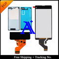Free Shipping + Tracking No. 100%+Full glue set tested Original For Sony Xperia Z1 mini D5503 LCD Screen  Assembly - Black