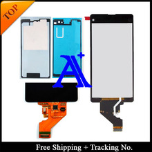 Free Shipping + Tracking No. 100%+Full glue set tested Original For Sony Xperia Z1 mini D5503 LCD Screen  Assembly – Black