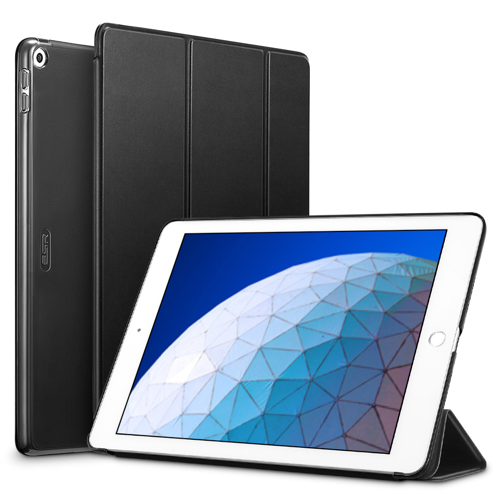 Black ESR smart Case with Trifold Stand and Hard Back Cover for iPad Air 3 2019 (A2153, A2123, A2154, A2152)
