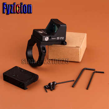 Fyzlicion Holographic Ultra Mini Small RMR Red Dot Sight 20mm Weaver Rail and RM38 Mount Base Ring For Hunting Airsoft