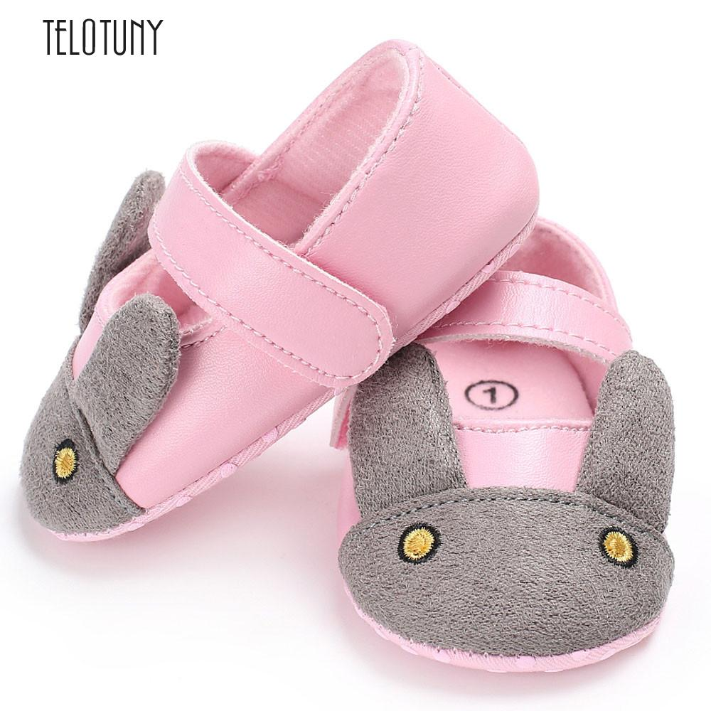 TELOTUNY Baby Infant Kids Girl Soft Sole Crib Toddler Newborn Shoes comfortable PU Leather Crib Shoes S3MAR8