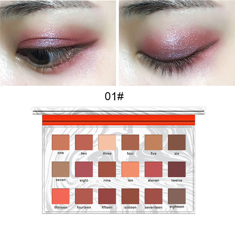 Beauty & Health 18color Eyeshadow Palette Shimmer Matt Eye Shadow Makeup Eyeshadow Cosmetics Professional For All Kinds Of Skin Makeup 2019 New Beauty Essentials