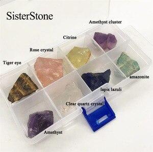 Image 2 - Pierres précieuses brutes en cristal quartz naturel 8 pièces, et minéraux de guérison, pierres brutes comme cadeau