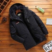Мужская зимняя куртка и пальто парка с капюшоном и воротником плюс размер 4XL 138