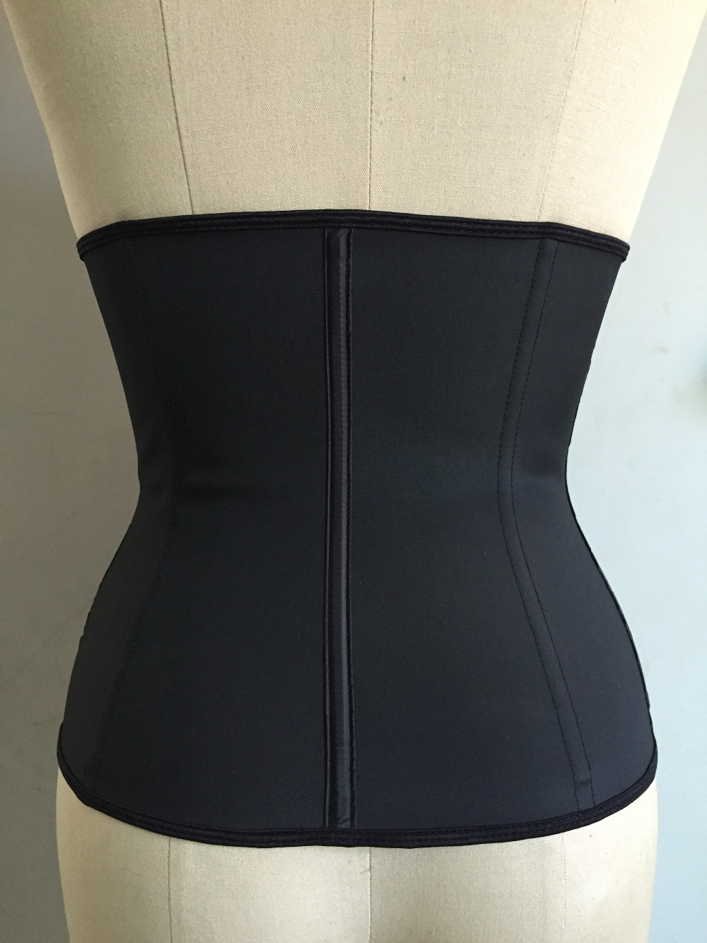 Meisou New Latex Waist Trainer Body Shaper Women Corset with Zipper Hot Shaper Cincher Corset Top Slimming Belt Black Plus Size (14)