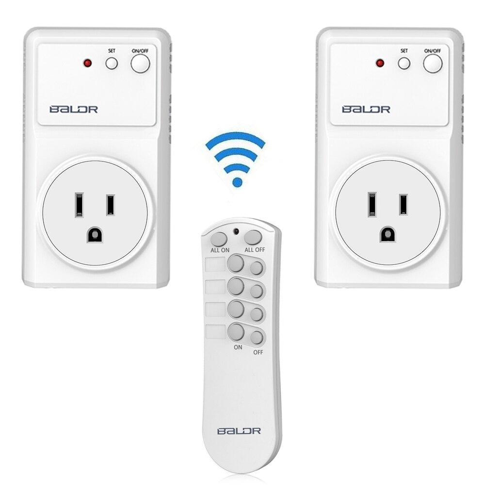Baldr Us Plug 2 Pack Wireless Remote Control Socket Outlet