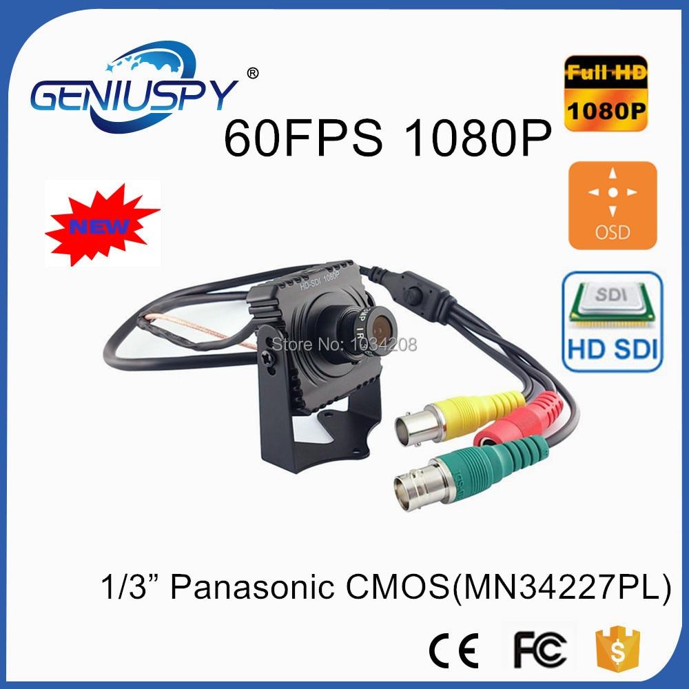GENIUSPY 2.0MP 1/3 Panasonic CMOS Sensor Full HD 1080P 60Fps Mini SDI CAMERA Digital CCTV Security SDI Camera with OSD Menu hqcam 1080p small sdi camera 1 3 inch progressive scan 2 1 mega pixel panasonic cmos sensor mini sdi camera hd sdi cctv camera