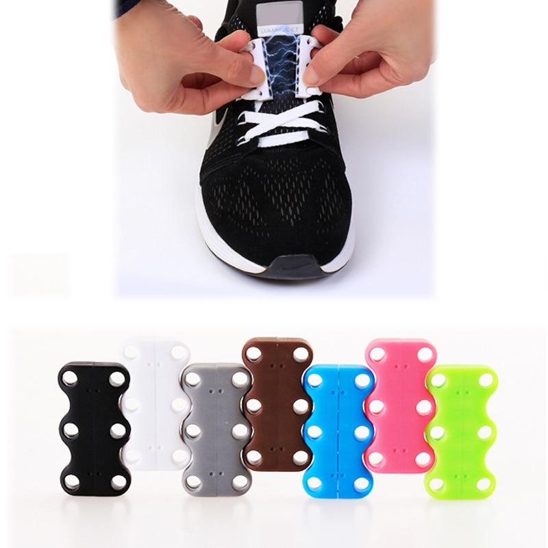 Shoes Shoe Decorations New 1 Pair Magnetic Magnetic Magic Magnetic Lazy Luminous Deduction Never No Tie Shoes Shovel Buckle Sports A Second Laces Belt High Quality