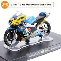 1:18 Escala Modelo de Moto Aprilia RS 125 N ° 46 do Campeonato Do Mundo de VALENTINO ROSSI 1996 Moto De Corrida Coleções Brinquedos Meninos Presentes