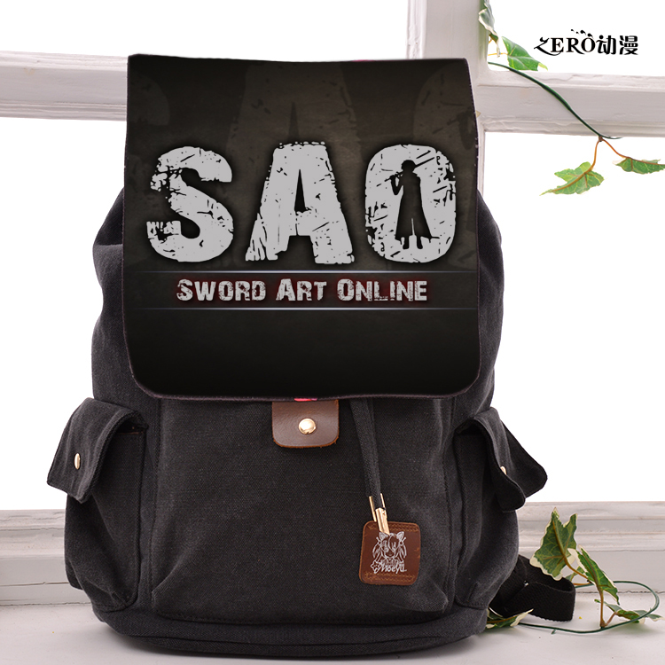 Anime Sword Art Online Cosplay Backpack Fashion casual large capacity Bags For Men Women School Bags adult fashion sword art online long straight hair cosplay wig anime party free