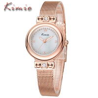 KIMIO Original Top Brand Luxury Ladies Stainless Steel Bracelet Watches New Fashion Casual Dress Crystal Scale