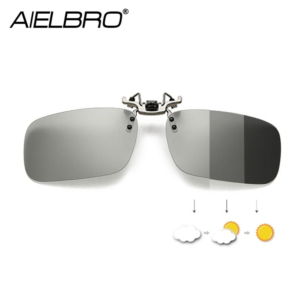 Hombres Flip up Clip en gafas de sol polarizadas fotocrómicas para señoras gafas de conducción nocturna con anteojos de sol polarizados amarillos