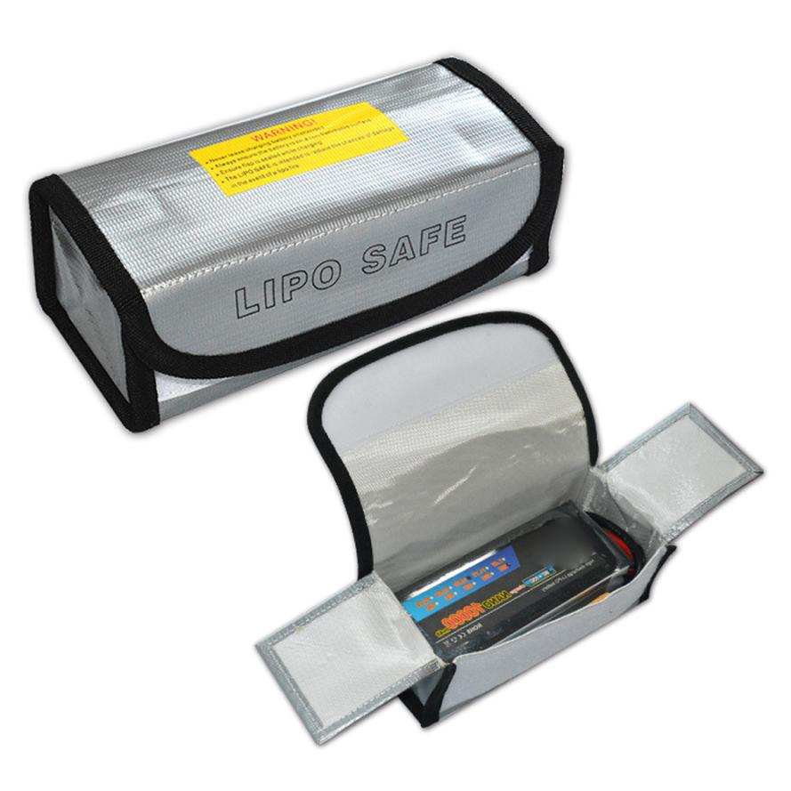 LiPo Li-Po Battery Fireproof Safety Guard Safe Bag 185*75*60MM Levert Dropship S9162 ...