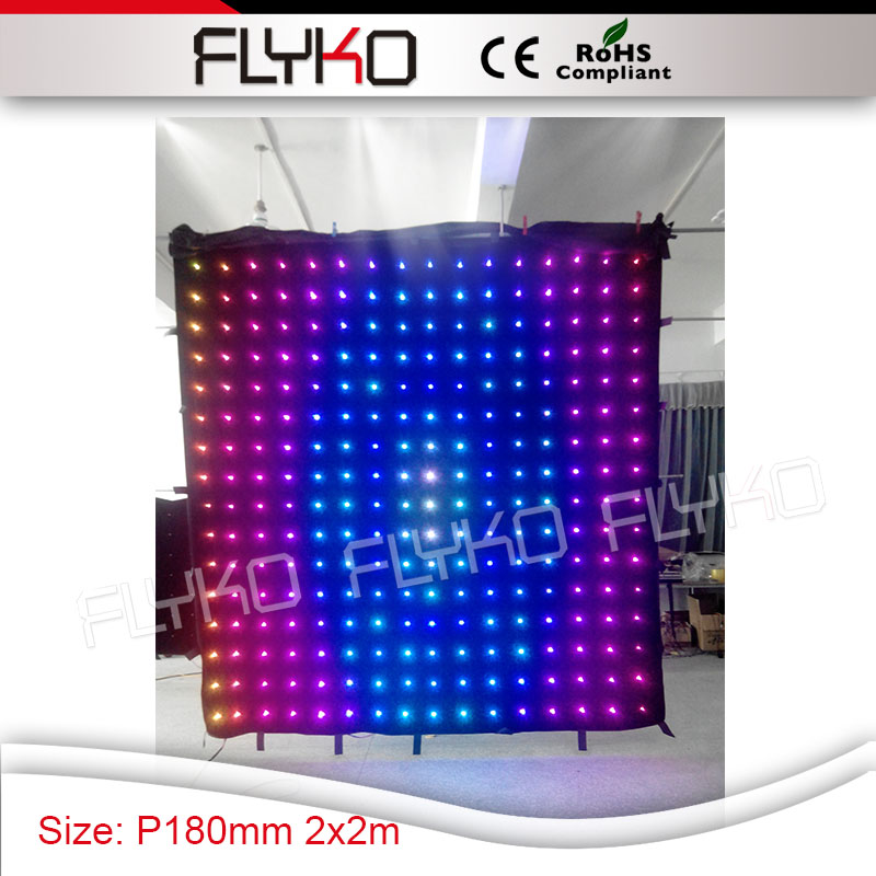 night club christmas P180mm dj table booth show stage led RGB vision light video curtain screen 2mtr * 2mtr|stage led|video curtain|night club - title=