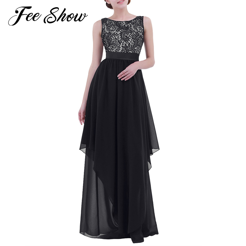 Fashion womens lace bridesmaid long dresses 2017 new for Garden wedding party dresses