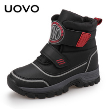 UOVO 2019 New Kids Fashion Boots Hook-and-Loop Closure Sporty Kids Shoes Warm an