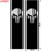 2X Truck Side Stripes Skull Car Styling Flags Graphics Decals Vinyl Stickers
