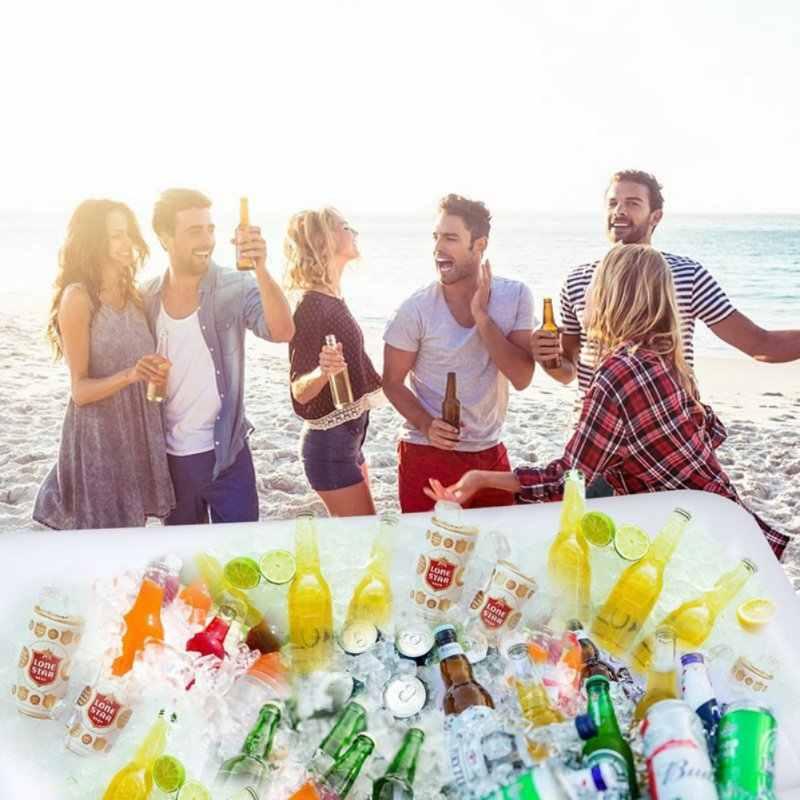 Inflatable Beer Meja Kolam Renang Float Musim Panas Air Pesta Kasur Udara Ice Bucket Melayani/Salad Bar Nampan Makanan Minuman Pemegang