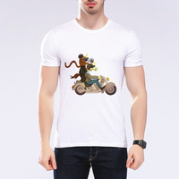 French Bulldog Riding A Tricycle Design Men T Shirt Bad Dog Print Cute T Shirt Casual