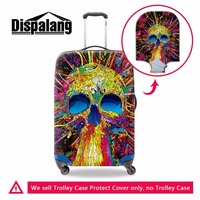 Dispalang Unique Skull Prints Luggage Cover Elastic Protective Cover Trolley Suitcase Dust Cover Accessories Supplies Products