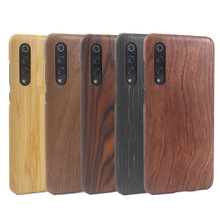 Natural Wooden phone case FOR Xiaomi MI9 MI 9 cover black ice wood,Pomegranate wood,Walnut,Rosewood,bamboo