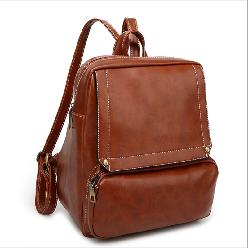 2017 New Fashion Ladies PU Leather Backpacks Vintage Backpack Women High Quality Simple School Bags For Teenage Girls Bolsa Moch high quality women leather backpacks vintage backpack women school bags 2015 new arrival bags design wholesale backpacks bb28
