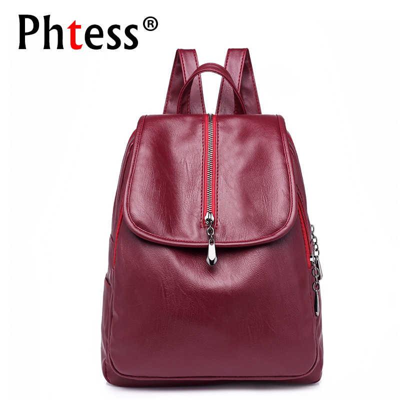 819feb4aa4d0 2018 Для женщин Pu кожаные рюкзаки для девочек элегантный дизайн Bagpack  дамы Школьная сумка Mochila путешествия