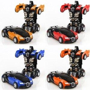 Image 4 - Transformatie Robot Speelgoed Auto Anime Action Figure Speelgoed ABS Plastic Botsing Transforming Model Cadeau voor Kinderen