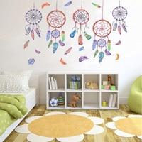 Neue Wind Chime Feder Wand Aufkleber Romantische Warme Schlafzimmer Wohnzimmer Kinderzimmer Traum Catcher Dekorative Aufkleber-in Wandaufkleber aus Heim und Garten bei