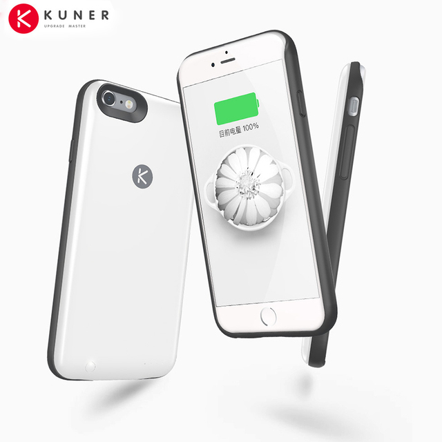 cheap for discount 54d8a 96fda US $88.9 |Original KUNER 2400mAh Ultra Slim Extended Battery Case & 64G  Memory Power Bank Fits for Apple iPhone 6 and 6S 4.7inch HU808-in Battery  ...