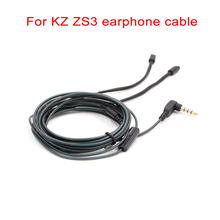KZ ZS3 Cable 4 pin 0.75 mm for KZ Earphone Microphone Pluggable Professional Headphone Replacement Cables AUX 3.5mm Jack Wire