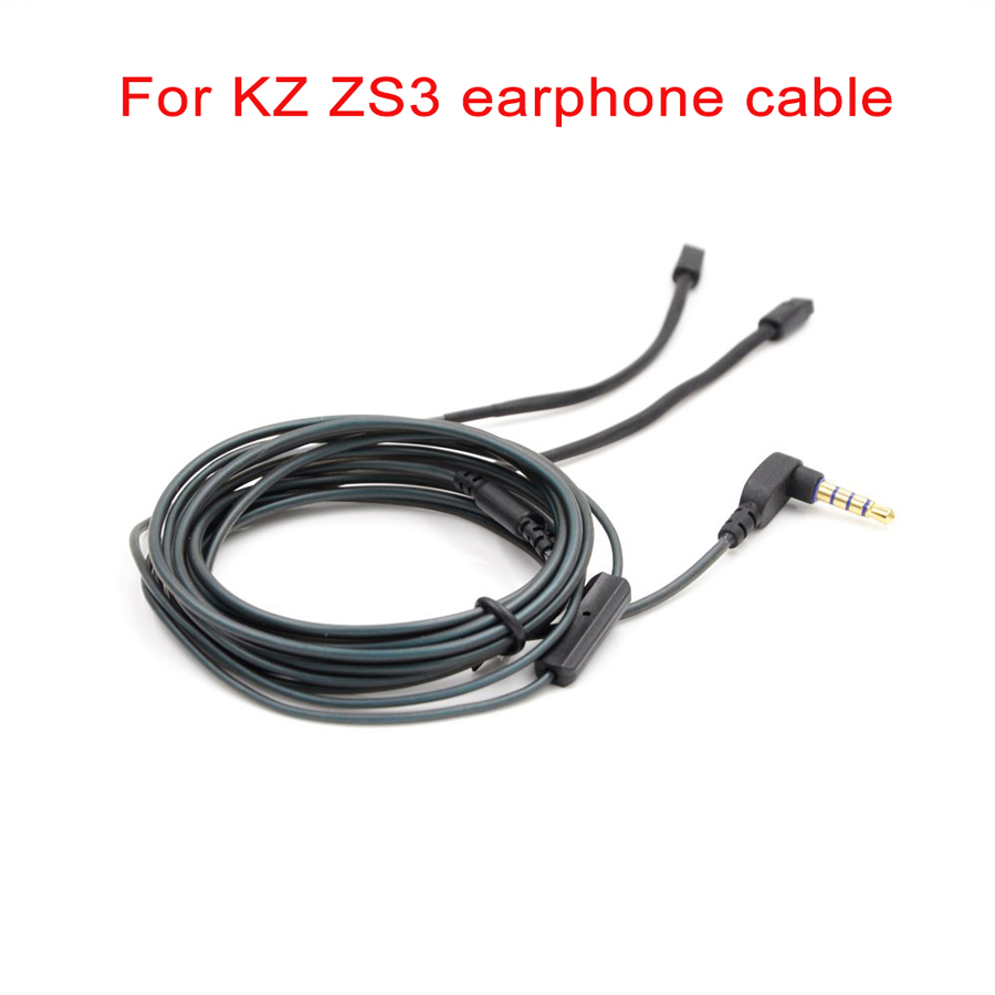 for KZ ZS3 ZS4 ZS5 ZS6 Cable 4 pin 0.75 mm for KZ Earphone
