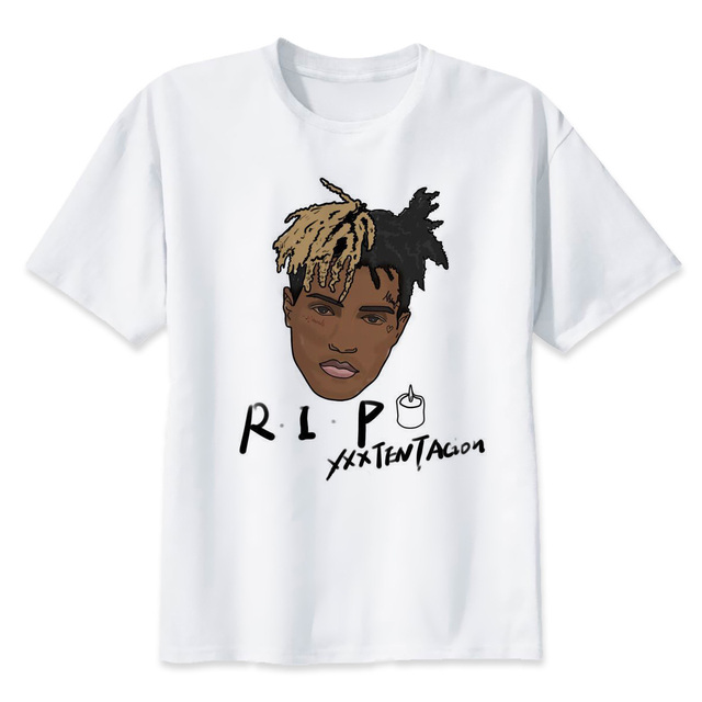 xxxtentacion R.I.P Character Print T-Shirt Fashion Casual Fitness Cool O-neck Men's T Shirt Summer Short Sleeve Men Clothing