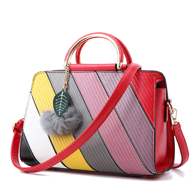 women bag bolsa feminina sac a main messenger bags handbag luxury handbags designer leather bolsas bolsos mujer stripe de couro