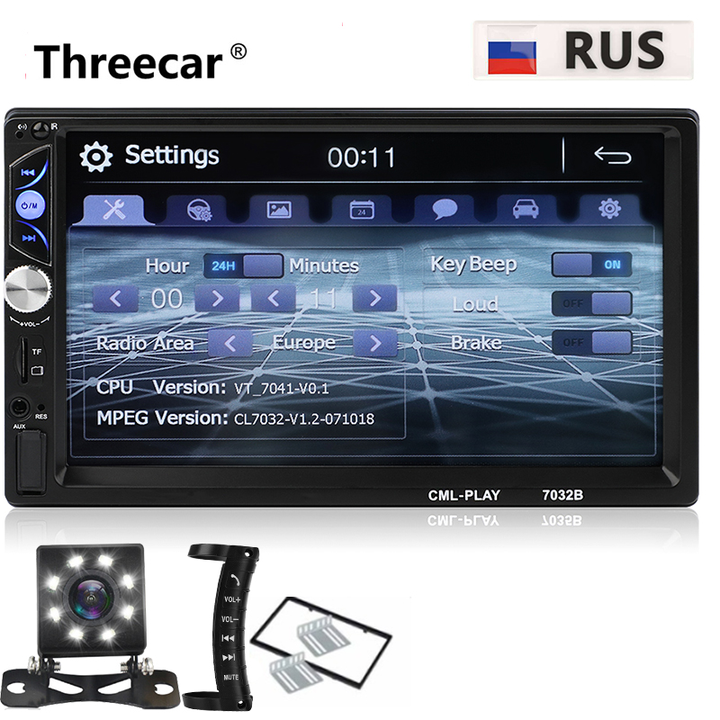 Plus récent 2 din Autoradio Bluetooth Mirrorlink Autoradio 7