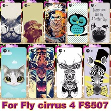 Phone Cases For Fly Cirrus 4 FS507 5.0 inch Cases Cover Painting Colored Plastic Soft TPU Smartphone Shell Housing Bag