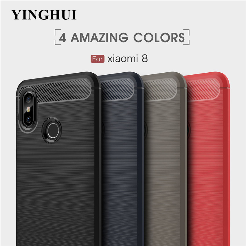 Pocophone F1 Case For <font><b>Xiaomi</b></font> Mi Poco F1 8 Se A2 Lite A1 6x 5x Max Mix 2 2s 3 Silicon Phone Cover For Redmi 6a Note 5 6 Pro Plus image